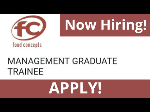 Management Graduate Trainee Recruitment